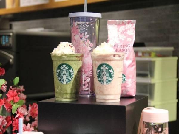 Minuman Matcha Azuki Blossom Creme Frappuccino dan Azuki Blossom Creme Frappuccino