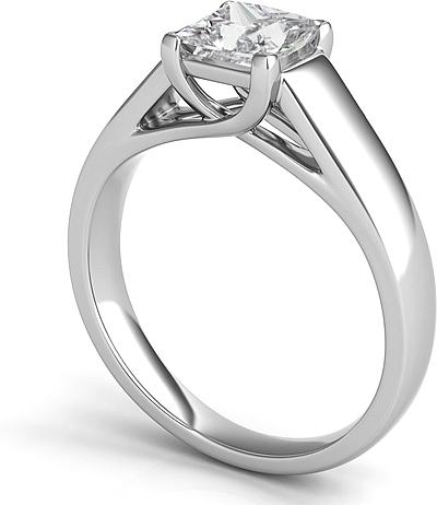 Trellis Princess Cut Solitaire Engagement Ring SNT74
