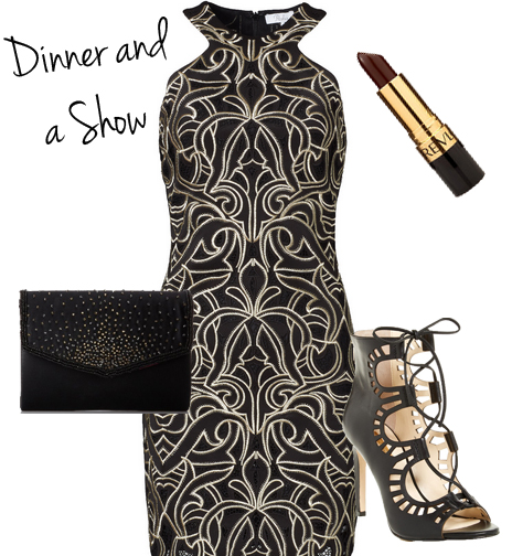 Vegas outfit dinner and a show