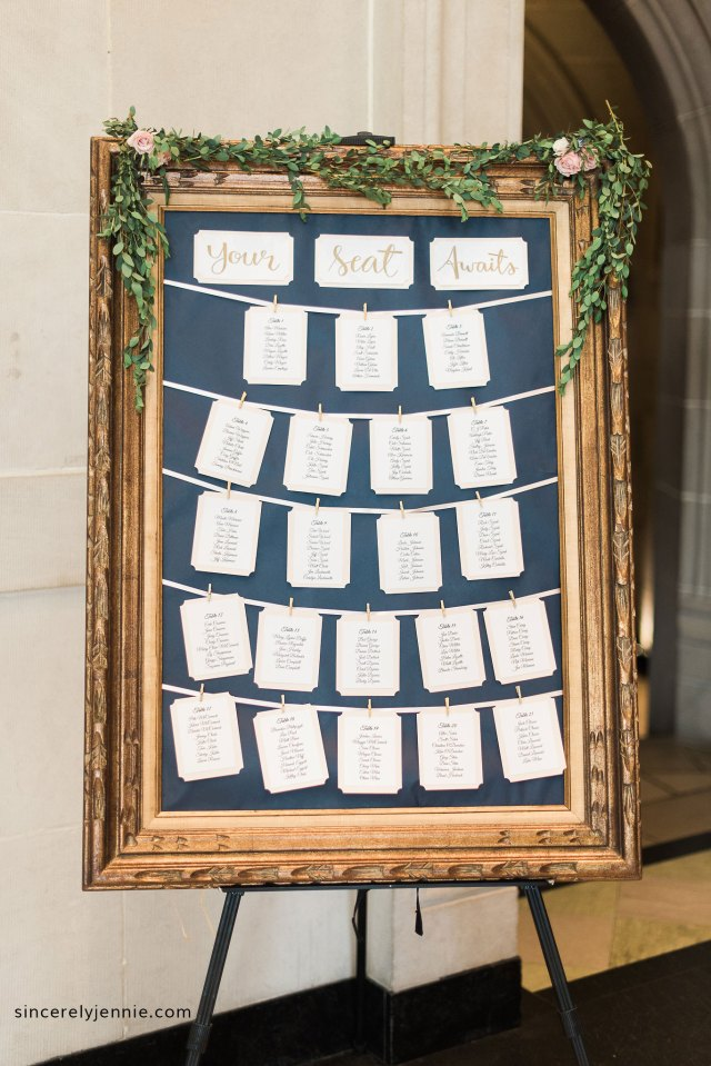 Sincerely, Jennie - DIY Wedding Seating Chart Instructions & Supplies