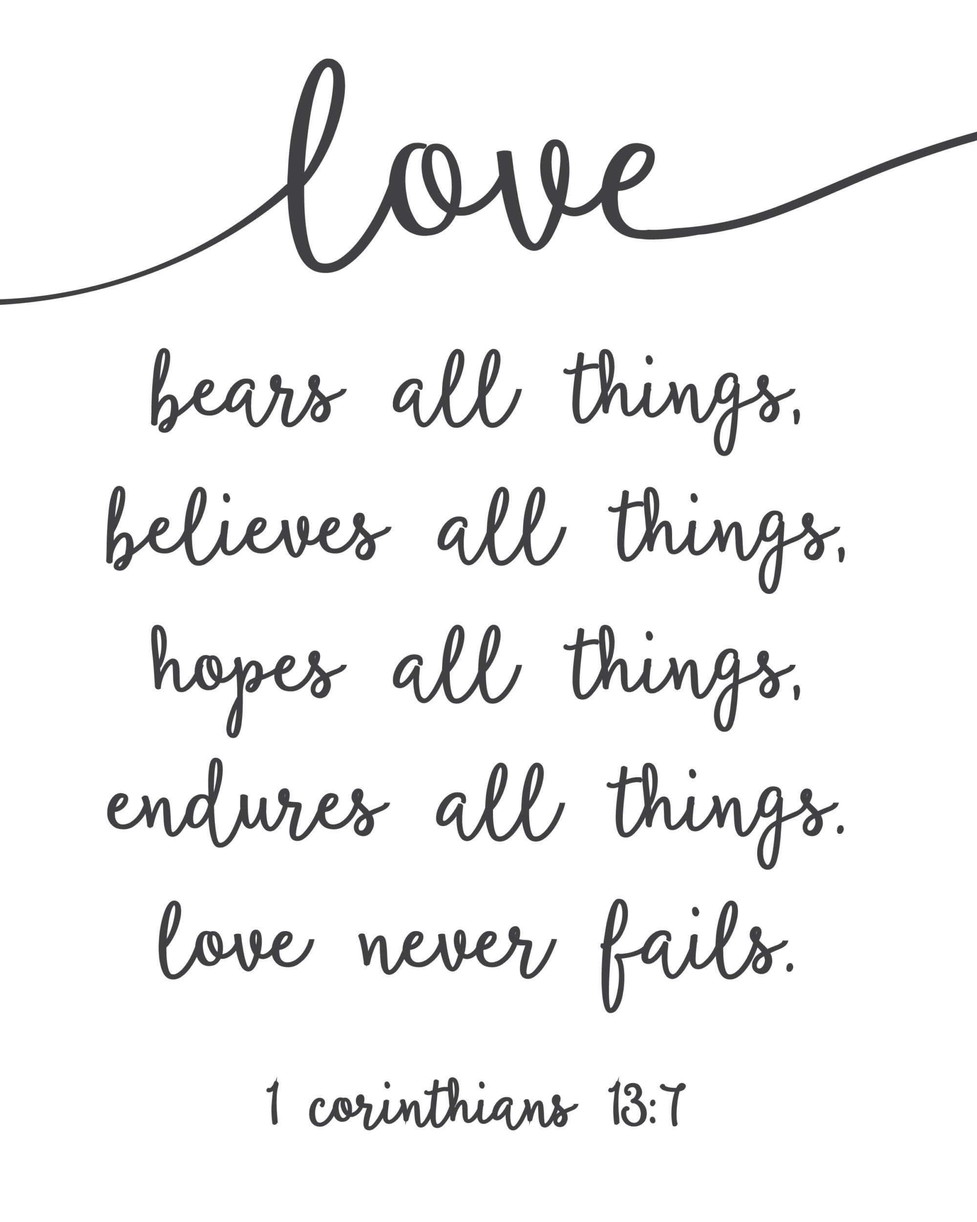 In Love Do Not Fail