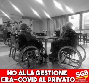 """Read more about the article NO ALLA GESTIONE """"CRA COVID"""" ALLA SANITA' PRIVATA."""