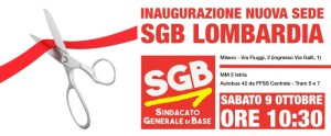 Read more about the article Inaugurazione nuova sede SGB Lombardia