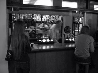 Kelly in the JCR Bar