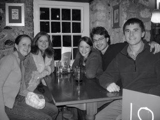 Margaret, Nora, Ellen, Nick, and I in The Turf