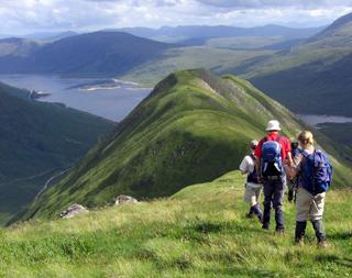 Climbing towards a loch