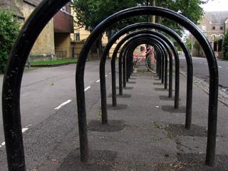 Bike racks near Balliol Sports Ground