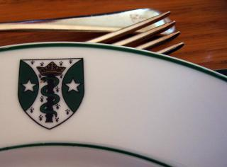 Green College flatware