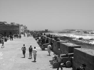 Sea wall with canons