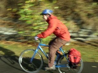 Milan Ilnyckyj on a bike