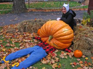 Meaghan Beattie and giant pumpkin