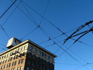 Power lines in Vancouver