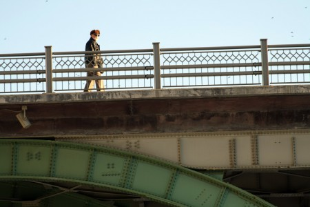 Man on bridge, Ottawa