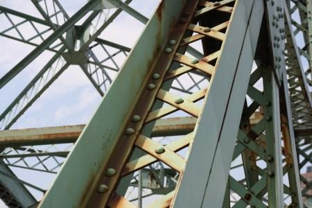 Chaudiere Bridge girders