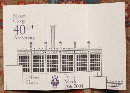 Massey College 40th Anniversary
