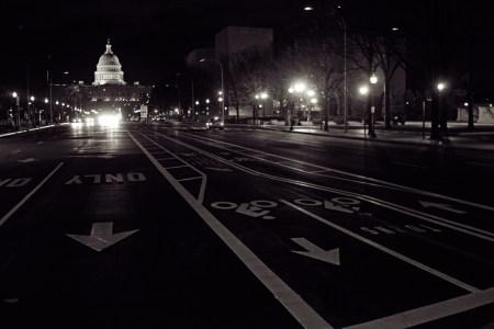 Bike lanes on Pennsylvania Avenue, Washington D.C