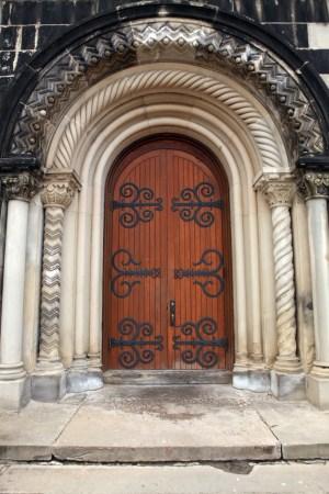 Door at University College, University of Toronto