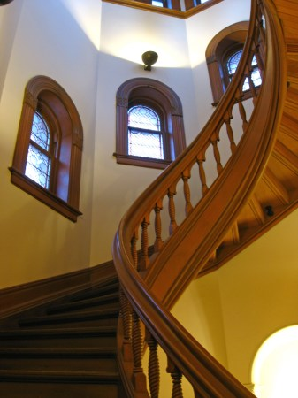 Spiral stairway at University College, University of Toronto