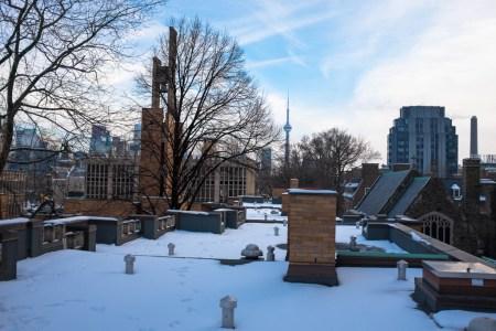 Clock tower, CN tower