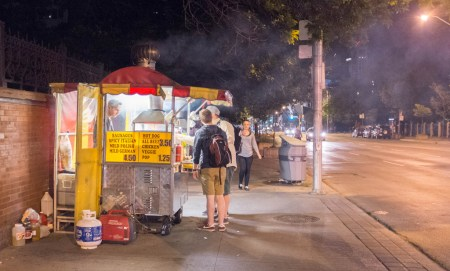 Hotdog stand at Bloor and St. George
