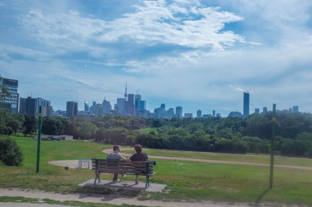 Downtown Toronto, across the Don Valley