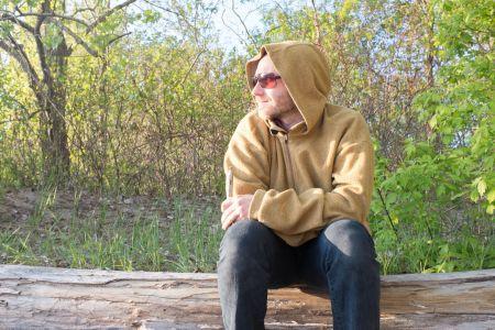 Neal in hoodie