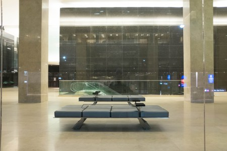 Benches and marble