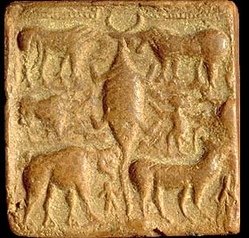 Image result for .joined animals indus script
