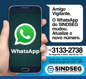 O WhatsApp do Sindseg Mudou. Atualize o novo número 12 3133-2738