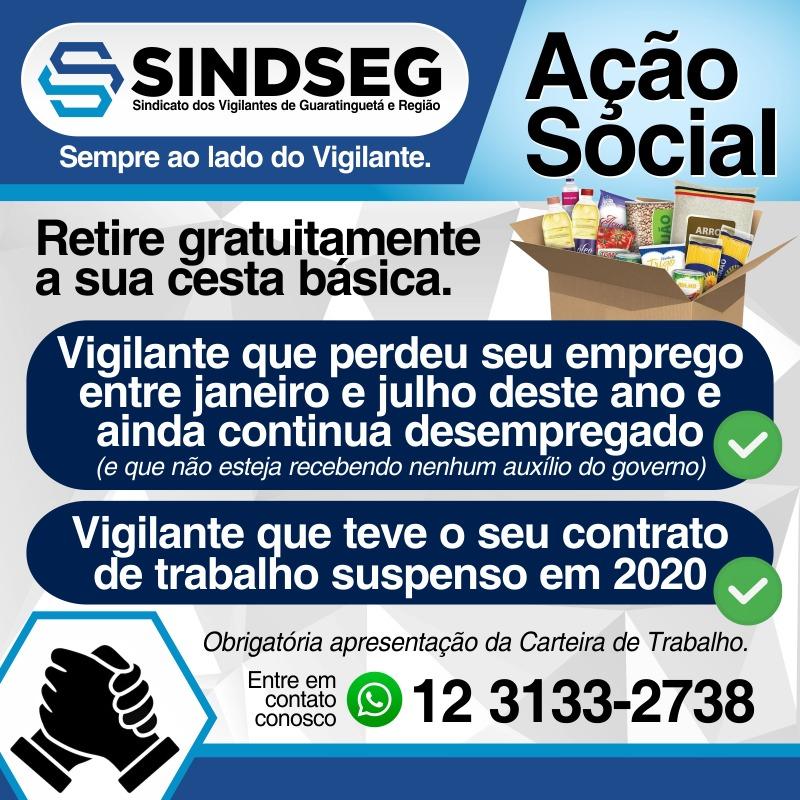 Ação Social do Sindseg em prol dos vigilantes