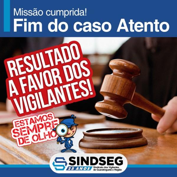 Missão cumprida, após solicitar bloqueio de valores da Atento, está em andamento a apresentação dos cálculos à juíza para o pagamento dos vigilantes da nossa região