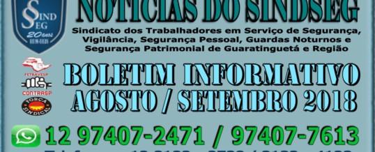 Boletim Informativo Agosto e Setembro 2018