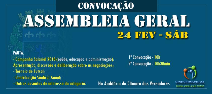 ASSEMBLEIA GERAL ORDINÁRIA: 24 DE FEVEREIRO