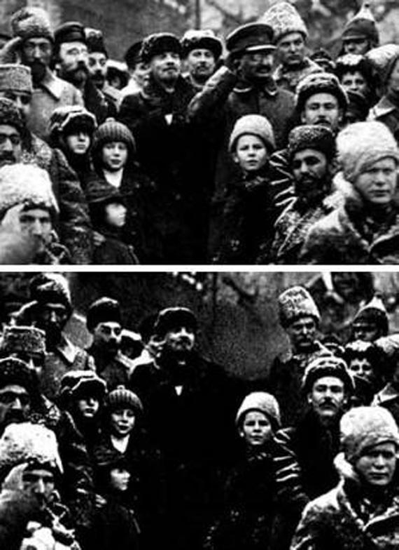Fotografía manipulada de la época de Stalin. Desconozco el nombre del autor.