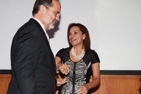 Josefina Vázquez reaparece en evento del PAN y anuncia que podría dirigir el partido. Foto: Antonio Cruz, SinEmbargo.