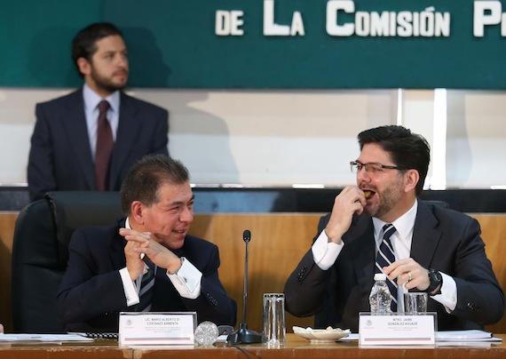 Jaime González Aguadé y  Mario Di Costanzo Armenta, acciones tardías. Foto: Cuartoscuro.