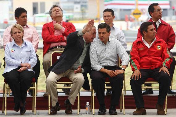José Andrés de Oteyza y Enrique Peña Nieto. Foto: Cuartoscuro.