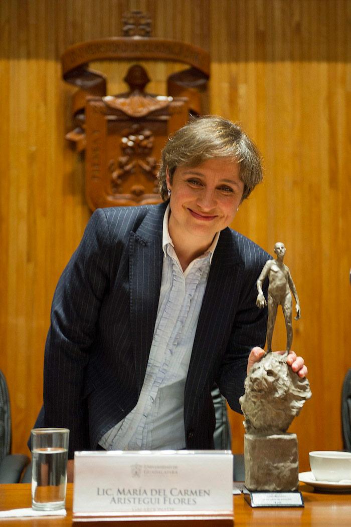 La periodista Carmen Aristegui. Foto: Cuartoscuro
