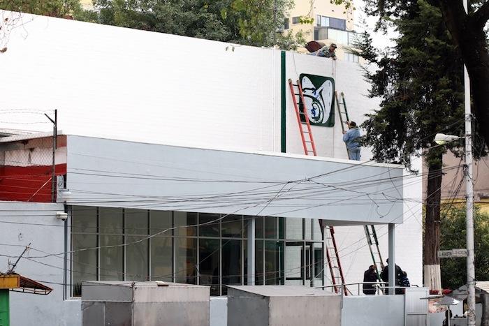 15 metros de altura tiene el recién construido centro de canje de vales de medicina del IMSS. Foto: Francisco Cañedo, SinEmbargo