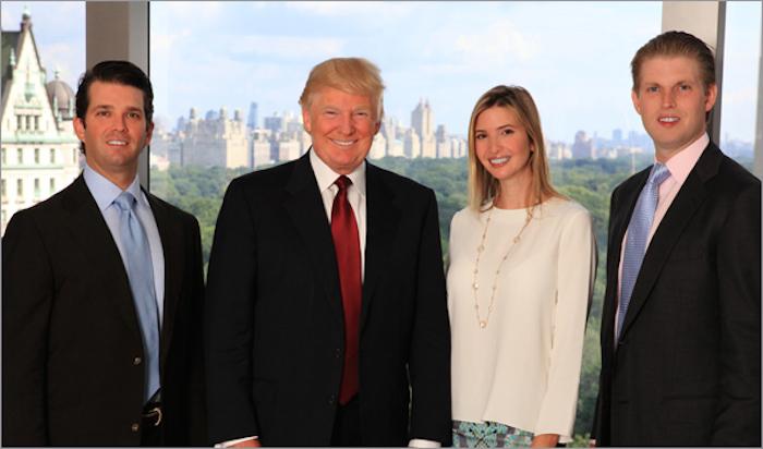 onald Trump formó una familia con Ivana Marie Zelnícková y es padre es padre de tres hijos: Donald Jr., Ivanka y Eric. Foto: Donald Trump Organization.