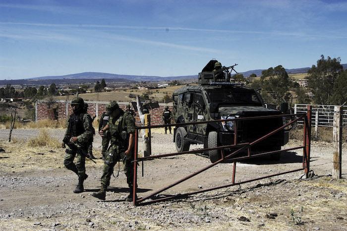 Elementos del Ejército en Nochistlan, Zacatecas. Foto: Cuartoscuro/Archivo.