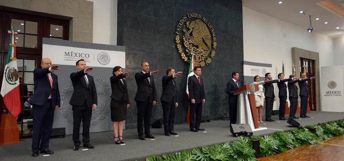 El Presidente Peña Nieto hizo 10 cambios a su gabinete. Foto: Presidencia.