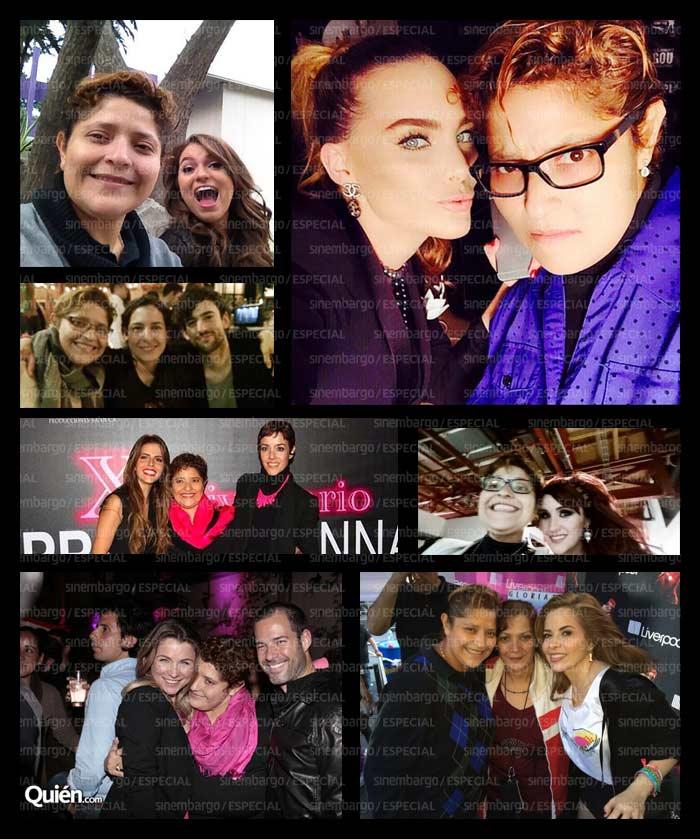 Danna y Belinda, y Danna y varias de sus representadas