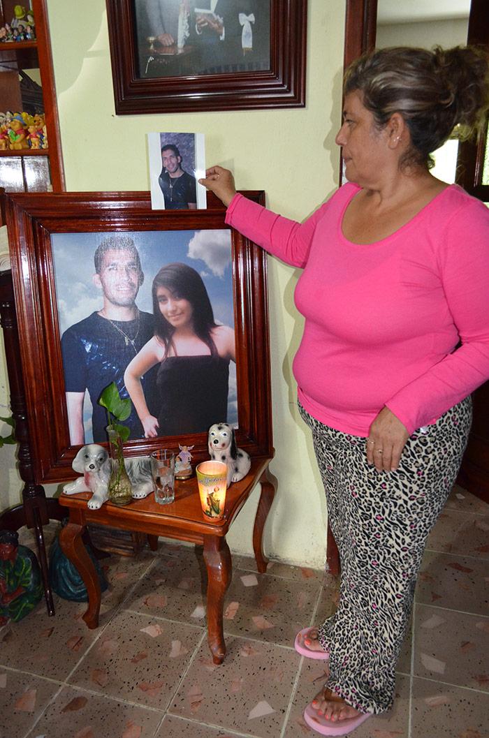 María Teresa Tejeda, madrre de Víctor Hugo Reynoso. Foto: Sanjuana Martínez