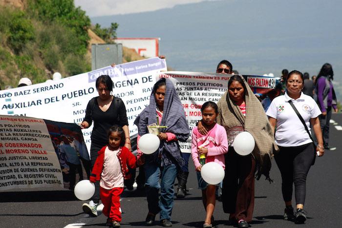 Uno de los casos paradigmáticos en materia de represión a la protesta social es el de la comunidad de San Bernardino Chalchihuapan. Foto: Cuartoscuro.