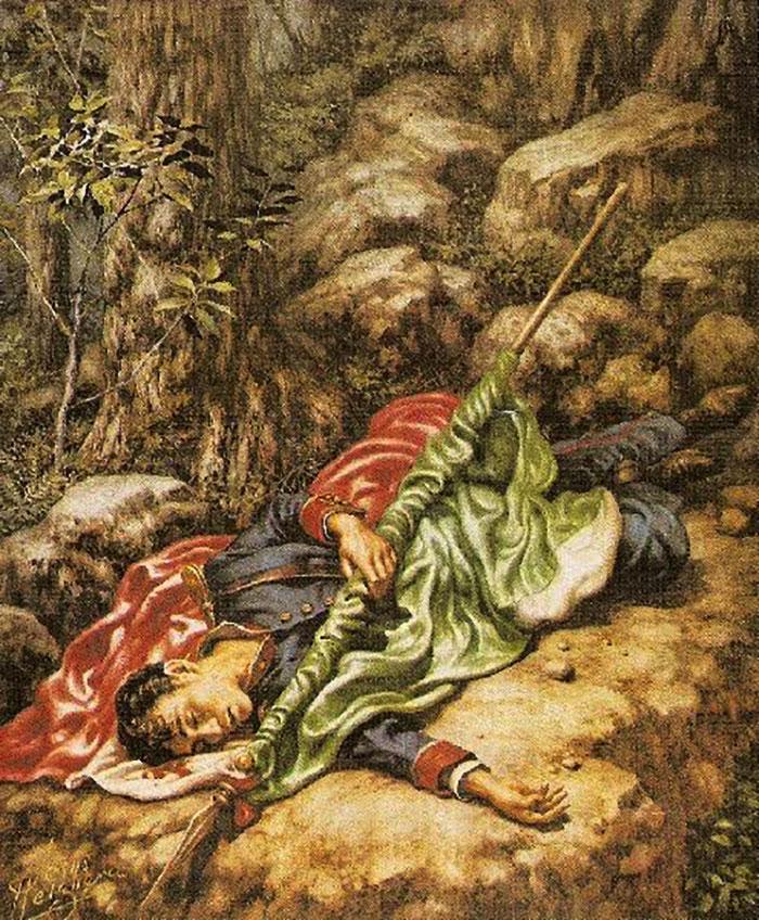 El gran mito del cadete que se arrojó con el Lábaro Patrio.