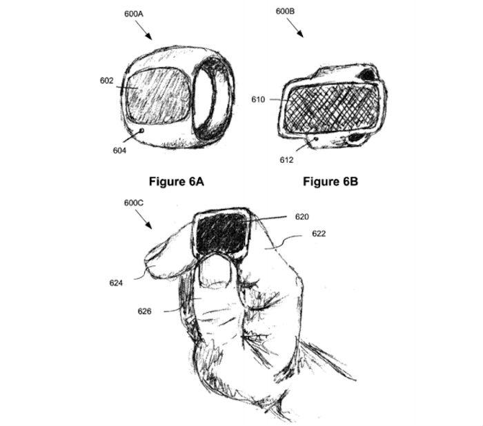 """LA llegada de un """"anillo inteligente"""" revolucionaría de nueva cuenta la industria tecnológica. Foto: USPTO"""