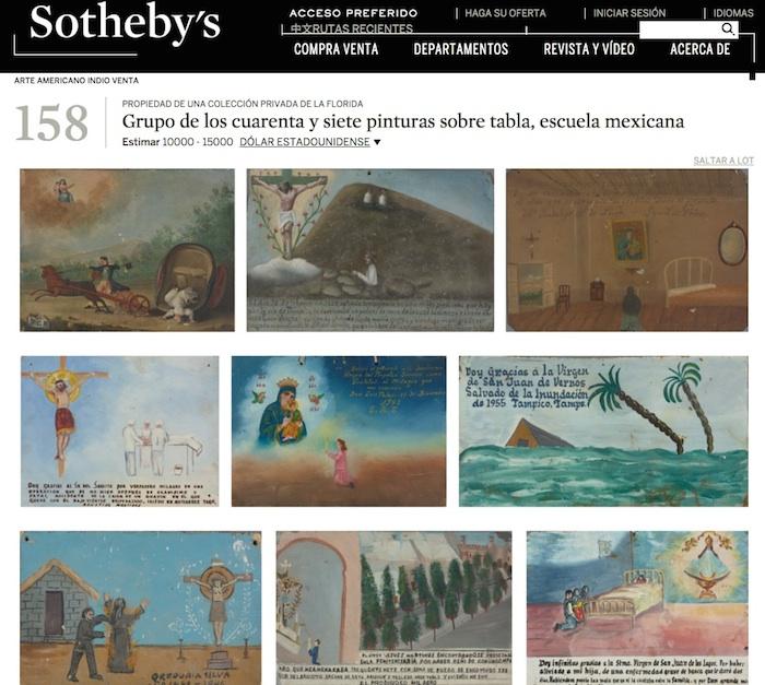 Los retablos se subastan en NY. Foto: www.sothebys.com/