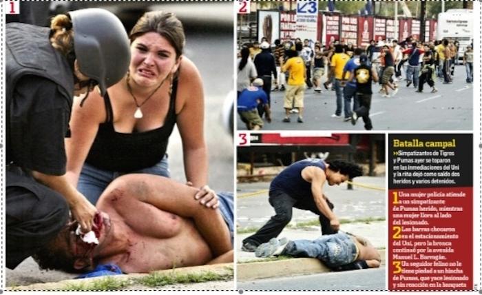 El primer gran enfrentamiento entre ambas barras fue más que intenso. Foto: Vice Media