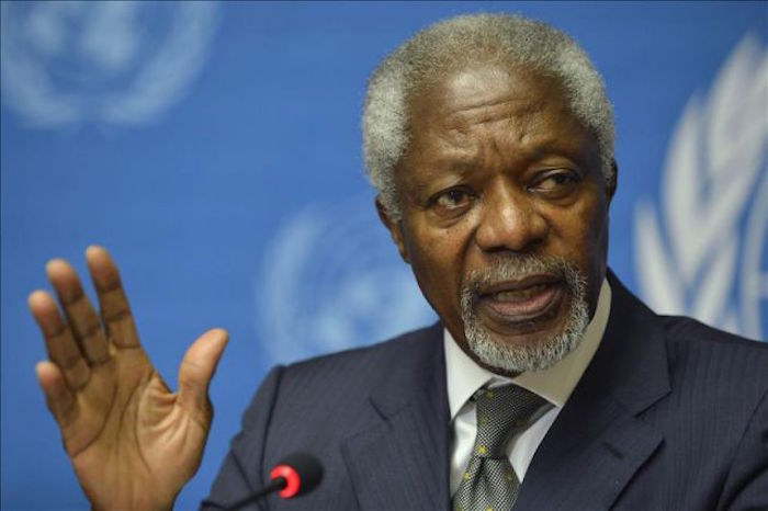 """El exsecretario de la ONU presidiría el """"Grupo de vigilancia de la FIFA"""" propuesto por Ali. Foto: EFE"""